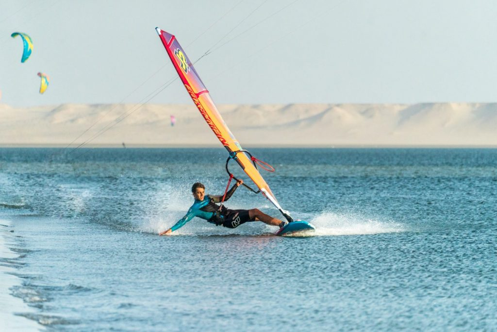 Windsurfing by Mintautas Grigas